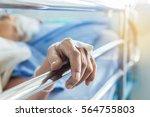 close up hand of elderly... | Shutterstock . vector #564755803
