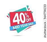 sale banner template design.... | Shutterstock .eps vector #564758233