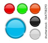 round buttons. colored set of... | Shutterstock .eps vector #564758293
