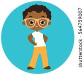 african american boy with... | Shutterstock .eps vector #564759007