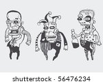 funny personages set. vector... | Shutterstock .eps vector #56476234