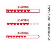 loading progress status bar... | Shutterstock .eps vector #564772237