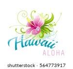 aloha hawaii vector... | Shutterstock .eps vector #564773917