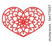 vector stencil lacy heart with... | Shutterstock .eps vector #564775057