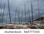 small sailing boats on the... | Shutterstock . vector #564777253