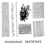 set of hand drawing marker... | Shutterstock .eps vector #564787693