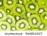 Fresh Kiwi Fruit Slices...