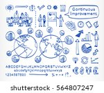 business doodle set. vector... | Shutterstock .eps vector #564807247