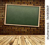 empty school blackboard at... | Shutterstock . vector #56480869