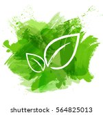 green watercolor paint with... | Shutterstock .eps vector #564825013