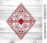 an ornate diamond from a custom ... | Shutterstock . vector #564833173