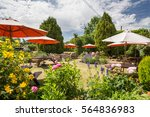 typical pub garden in england... | Shutterstock . vector #564836983