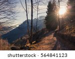mountain trail path in the... | Shutterstock . vector #564841123