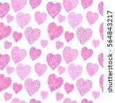 hearts seamless pattern | Shutterstock .eps vector #564843217