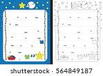 preschool worksheet for... | Shutterstock .eps vector #564849187