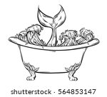vector hand drawn illustration... | Shutterstock .eps vector #564853147