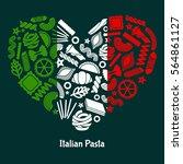 italian pasta. illustration ... | Shutterstock .eps vector #564861127