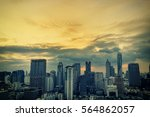 abstract cityscape on pastel... | Shutterstock . vector #564862057