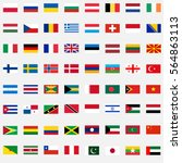 flags of the world  a large set ... | Shutterstock .eps vector #564863113