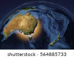 planet earth from space showing ...   Shutterstock . vector #564885733