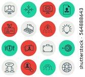 set of 16 business management... | Shutterstock . vector #564888643