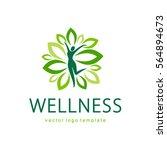 wellness vector logo design | Shutterstock .eps vector #564894673