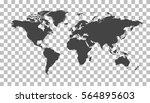 blank black world map on... | Shutterstock .eps vector #564895603