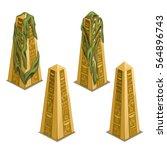set of ancient egyptian golden... | Shutterstock .eps vector #564896743