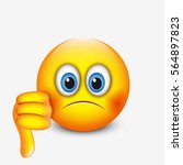 cute emoticon with thumb down ... | Shutterstock .eps vector #564897823