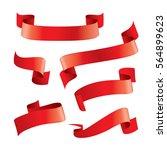 set of red ribbons design... | Shutterstock .eps vector #564899623
