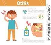 otitis.  vector art on a white... | Shutterstock .eps vector #564908647