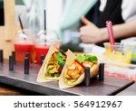 Street Vendor Selling Taco...