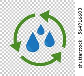 water cycle icon. flat vector... | Shutterstock .eps vector #564916603