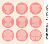 plastic surgery flat icons set. ... | Shutterstock .eps vector #564918043