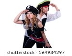 two pirate man and a woman.... | Shutterstock . vector #564934297