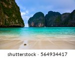 maya bay   beautiful beach in... | Shutterstock . vector #564934417