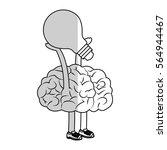 human brain design | Shutterstock .eps vector #564944467