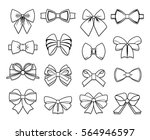 beautiful bows elements... | Shutterstock .eps vector #564946597