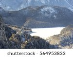 view on neuschwanstein castle... | Shutterstock . vector #564953833