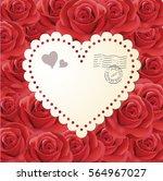 valentines day vintage...   Shutterstock .eps vector #564967027
