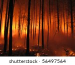 hell in the forest | Shutterstock . vector #56497564