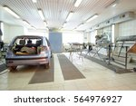 interior of a car repair station | Shutterstock . vector #564976927