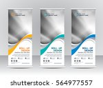 roll up banner stand template... | Shutterstock .eps vector #564977557