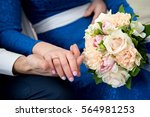 lovers love holding hands with...   Shutterstock . vector #564981253