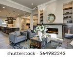 chic living room filled with... | Shutterstock . vector #564982243