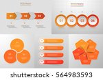 infographics step by step.... | Shutterstock .eps vector #564983593