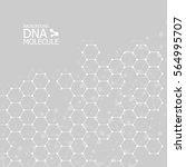 abstract dna background. vector ... | Shutterstock .eps vector #564995707