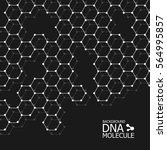 abstract dna background. vector ... | Shutterstock .eps vector #564995857
