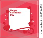 valentine's day card | Shutterstock .eps vector #564996457