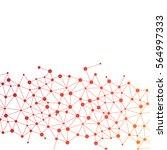 abstract dna background. vector ... | Shutterstock .eps vector #564997333